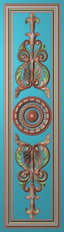 欧式竖图JDP格式雕刻雕花护墙板系列HQ00102插图