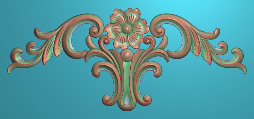 欧式三角花图JDP格式横图浮雕外墙装饰花洋花系列柜门花SH0180插图