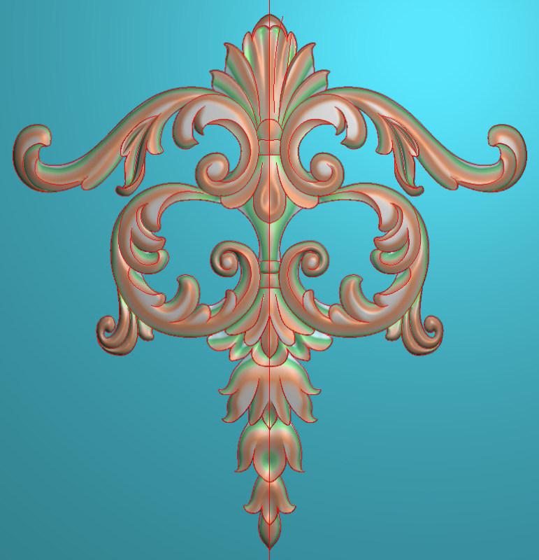 欧式三角花图JDP格式正方图浮雕外墙装饰花洋花系列柜门花SH0127插图
