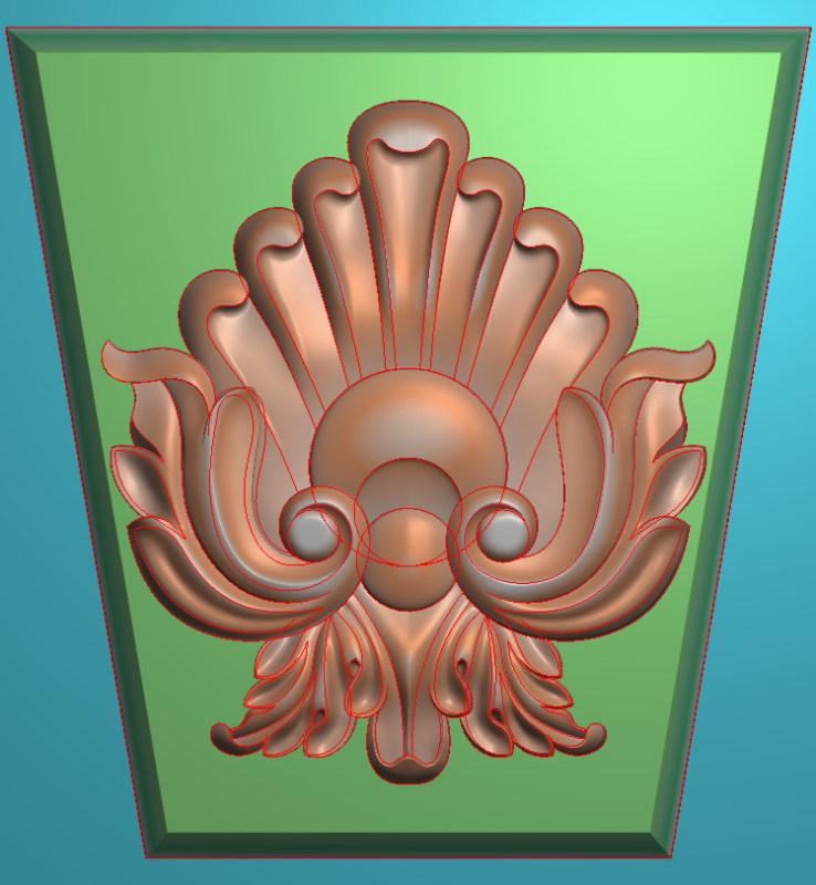 欧式竖图JDP格式罗马柱头系列ZB068插图