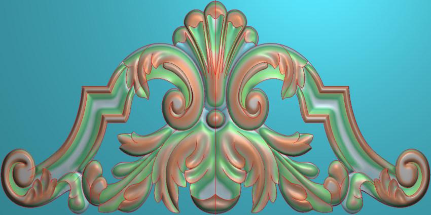 欧式三角花图JDP格式横图浮雕外墙装饰花洋花系列柜门花SH095插图