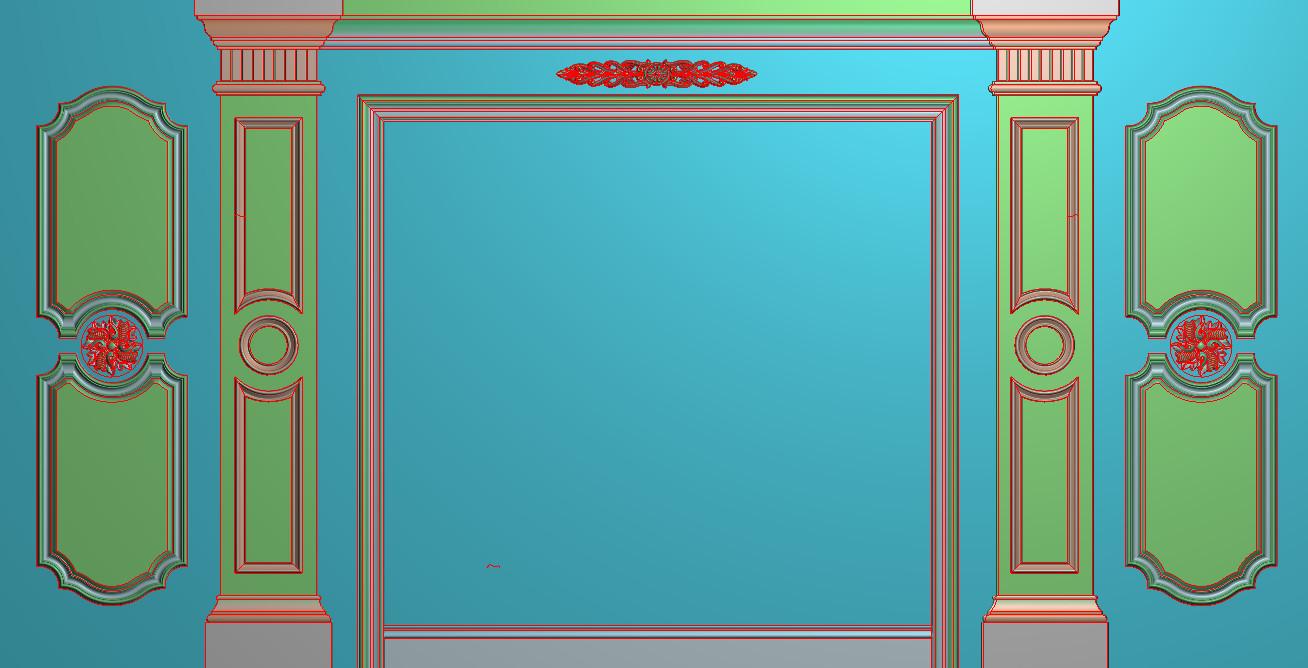 欧式横图JDP格式背景墙系列BJ0025插图