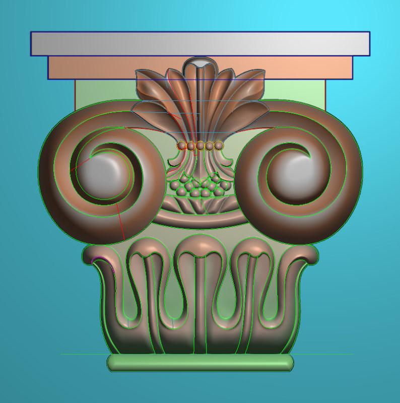 欧式正方图JDP格式罗马柱头系列ZB020插图
