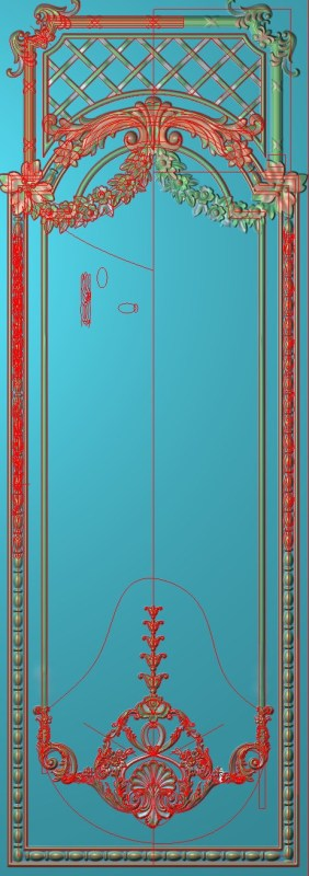 欧式竖图JDP格式雕刻雕花护墙板系列HQ0018插图