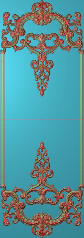 欧式竖图JDP格式雕刻雕花护墙板系列HQ00124插图