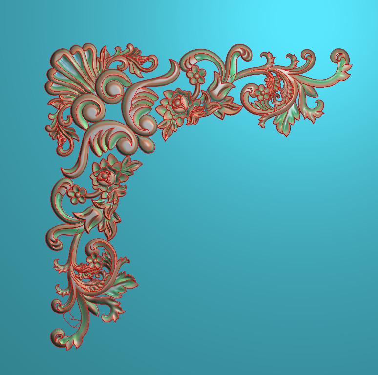 欧式正方图JDP格式植物角花系列JH072插图
