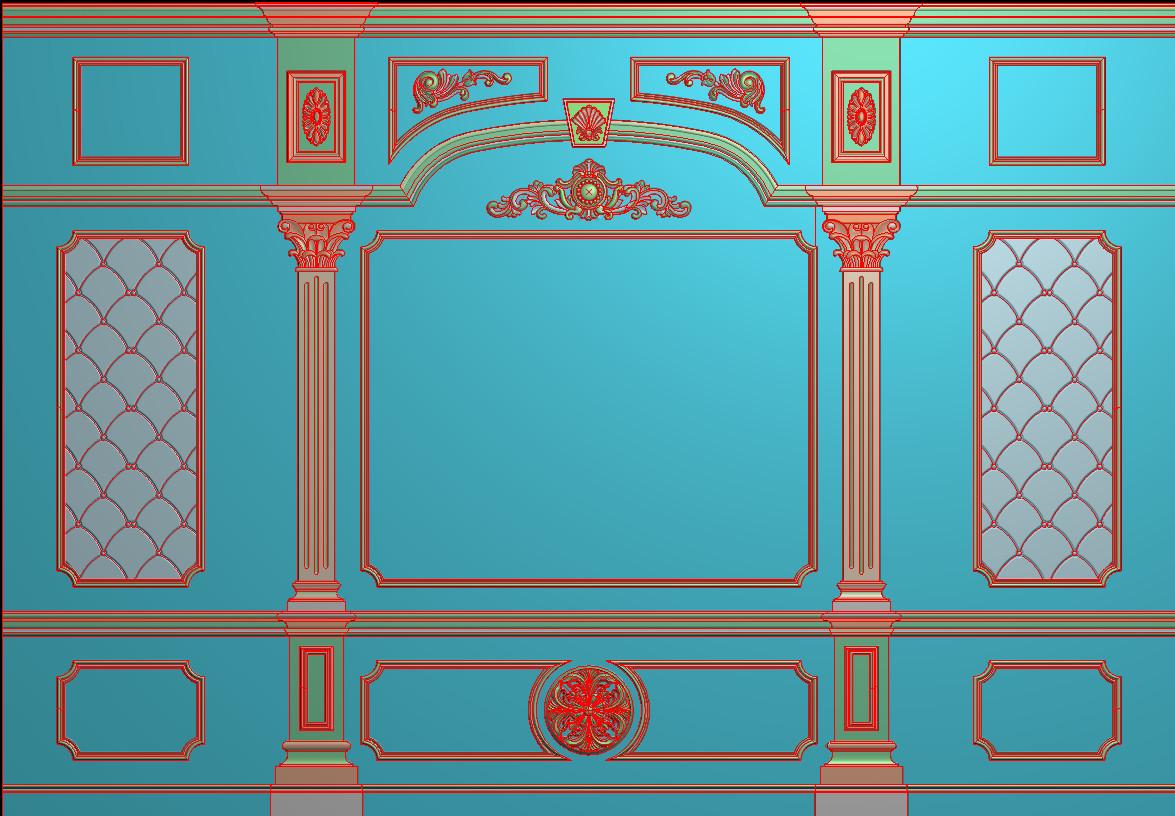 欧式横图JDP格式背景墙系列BJ001插图