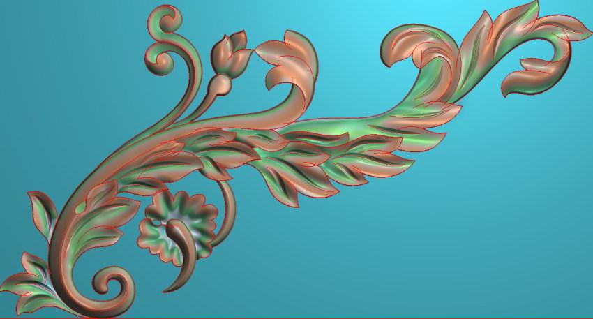欧式横图JDP格式植物角花系列JH0282插图