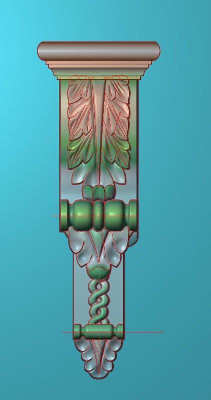 欧式竖图JDP格式罗马柱头柱体系列ZB040插图