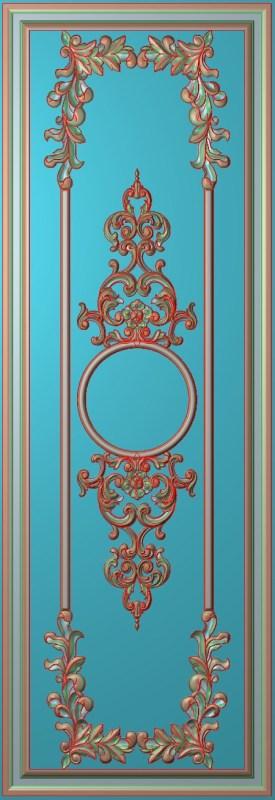 欧式竖图JDP格式雕刻雕花护墙板系列HQ0077插图