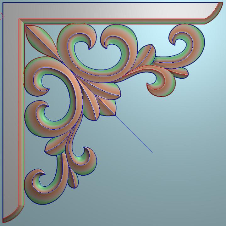 欧式正方图JDP格式植物角花系列JH040插图