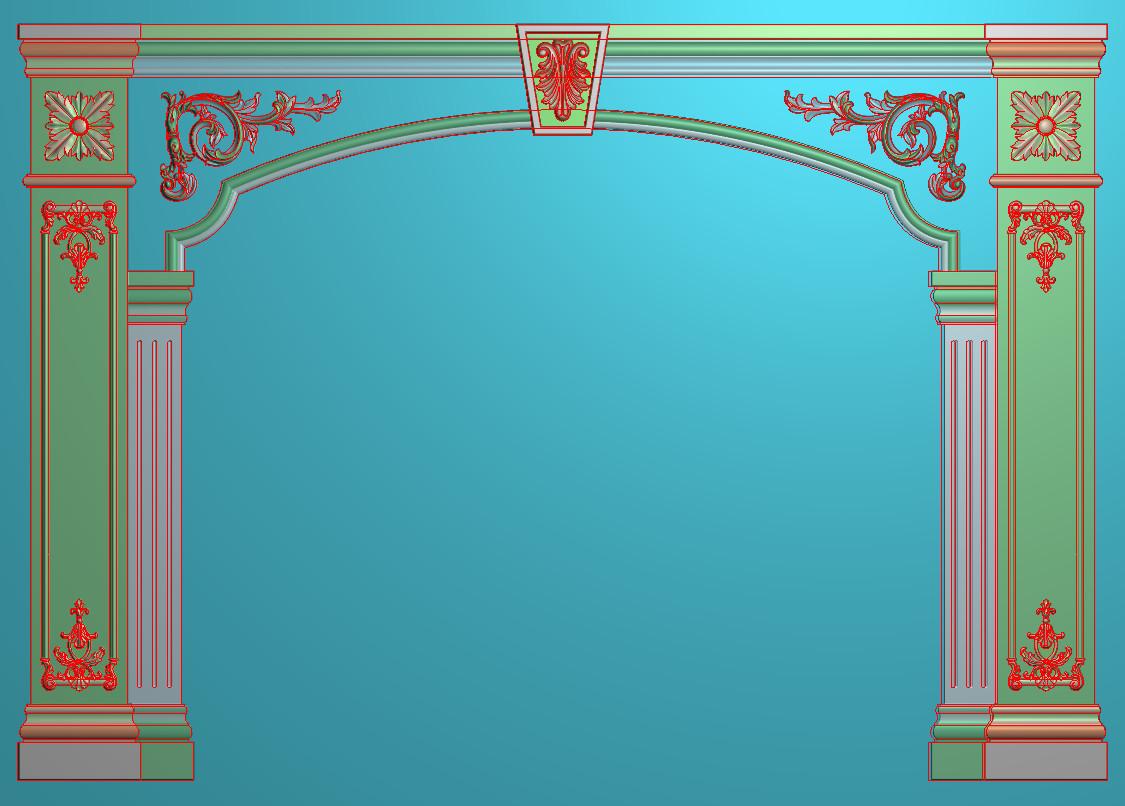 欧式横图JDP格式背景墙系列BJ007插图