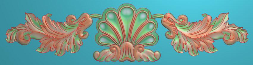 欧式三角花图JDP格式横图浮雕外墙装饰花洋花系列柜门花SH087插图