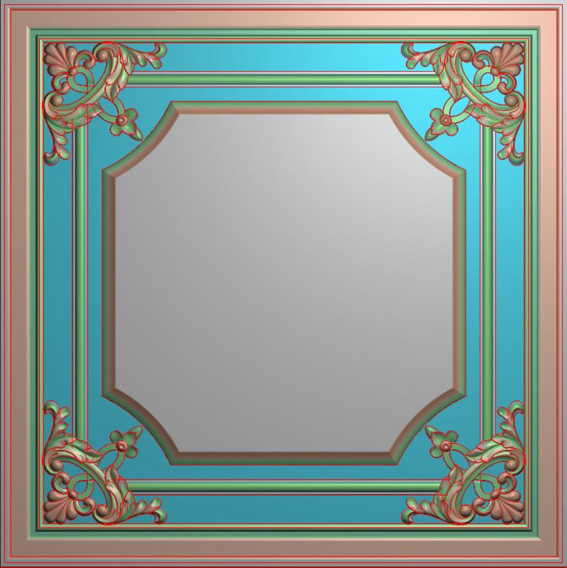 欧式正方图JDP格式贴花方块花洋花系列罗马柱头贴片FH037插图