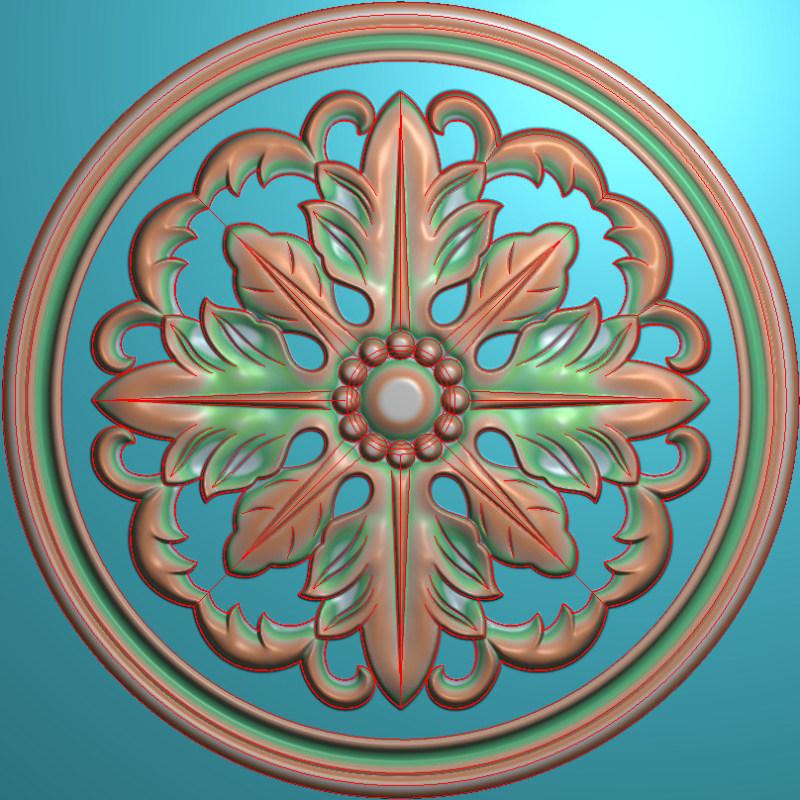 欧式圆花图JDP格式贴花门上花洋花系列罗马柱头贴片YH0045插图
