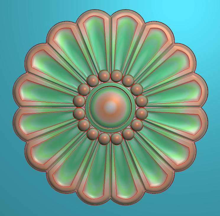 欧式圆花图JDP格式贴花门上花洋花系列罗马柱头贴片YH0065插图