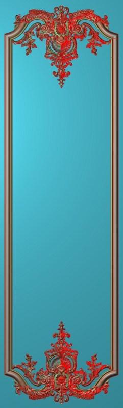 欧式竖图JDP格式雕刻雕花护墙板系列HQ00206插图