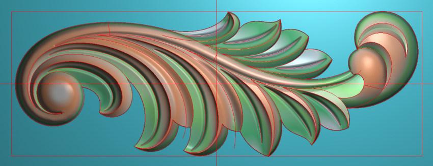 欧式横图JDP格式植物角花系列JH0264插图
