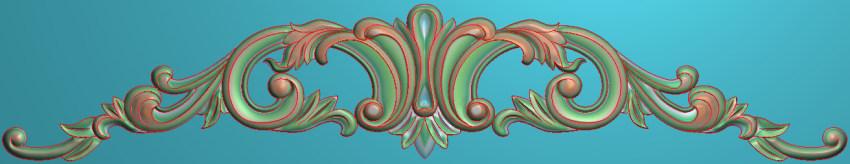 欧式三角花图JDP格式横图浮雕外墙装饰花洋花系列柜门花SH054插图