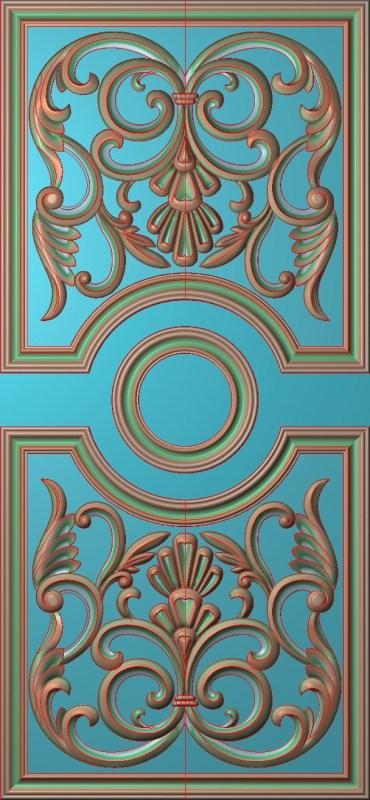 欧式竖图JDP格式雕刻雕花护墙板系列HQ0084插图