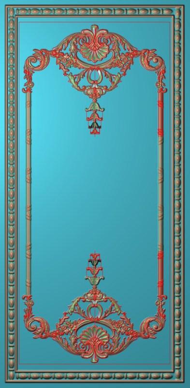 欧式竖图JDP格式雕刻雕花护墙板系列HQ0010插图