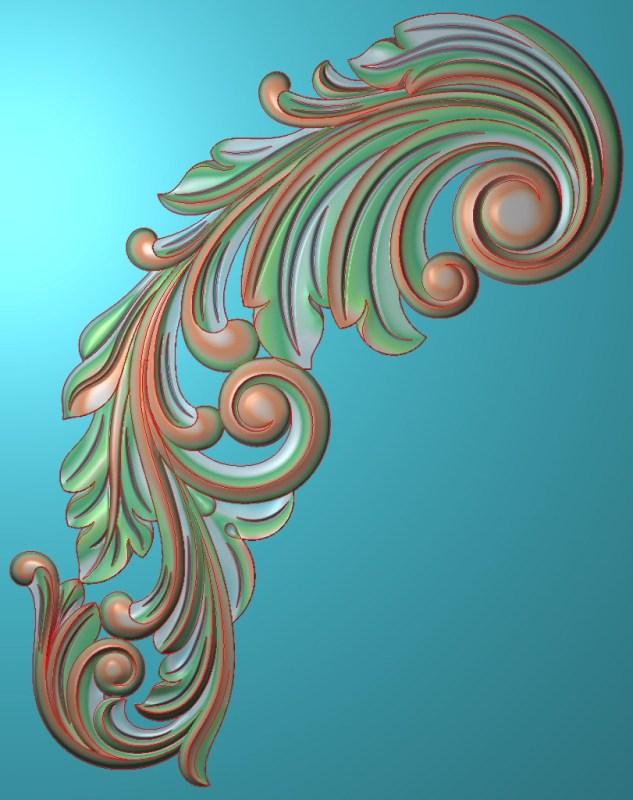 欧式竖图JDP格式植物角花系列JH0153插图