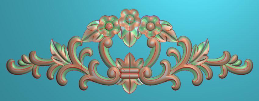 欧式三角花图JDP格式横图浮雕外墙装饰花洋花系列柜门花SH030插图