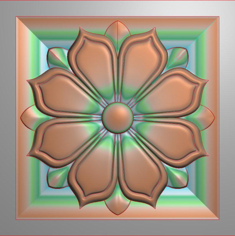 欧式正方图JDP格式贴花方块花洋花系列罗马柱头贴片FH0107插图
