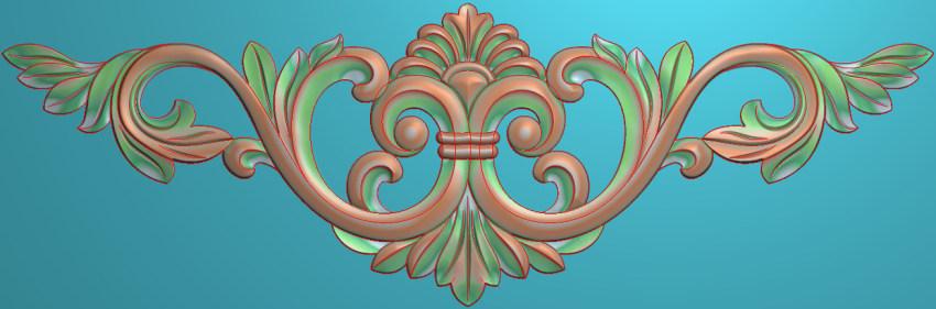 欧式三角花图JDP格式横图浮雕外墙装饰花洋花系列柜门花SH073插图