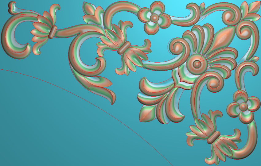 欧式横图JDP格式植物角花系列JH0222插图