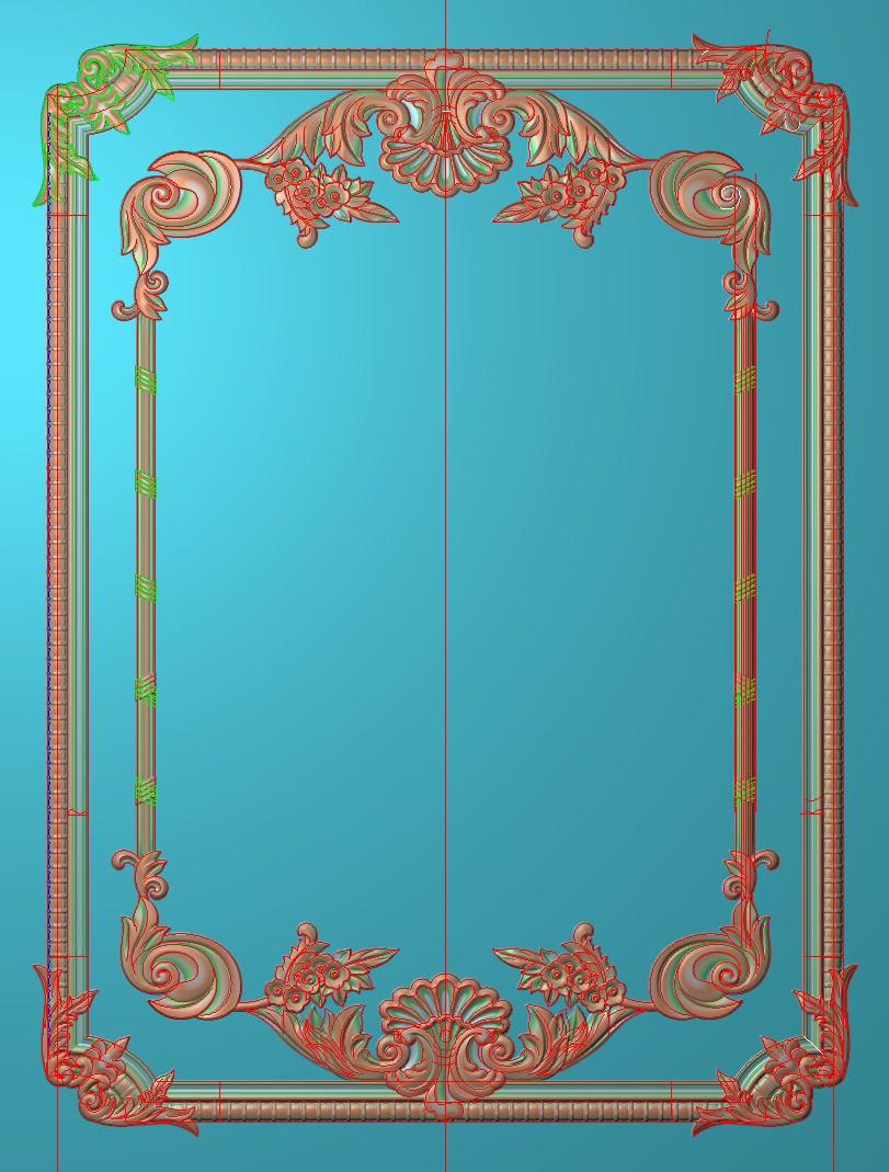 欧式竖图JDP格式雕刻雕花护墙板系列HQ002插图