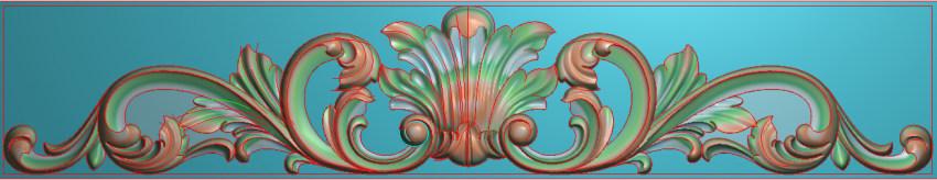 欧式三角花图JDP格式横图浮雕外墙装饰花洋花系列柜门花SH021插图
