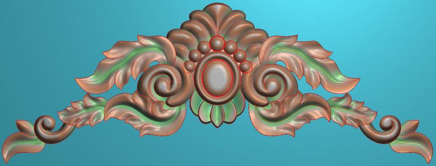 欧式三角花图JDP格式横图浮雕外墙装饰花洋花系列柜门花SH090插图