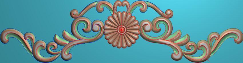 欧式三角花图JDP格式横图浮雕外墙装饰花洋花系列柜门花SH0119插图