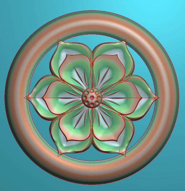 欧式圆花图JDP格式贴花门上花洋花系列罗马柱头贴片YH0062插图